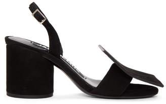 Jacquemus Black Les Rond Carre Sandals