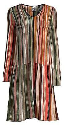 M Missoni Women's Rainbow Stripe Shift Dress