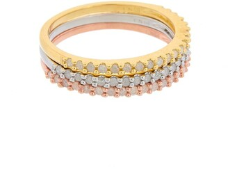 Rina Limor Fine Jewelry Rose Gold Over Silver 0.60 Ct. Tw. Diamond Ring