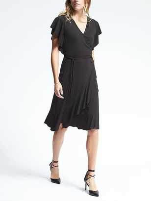 Flounce Wrap Dress $118 thestylecure.com