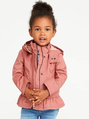 Old Navy Hooded Peplum Jacket for Toddler Girls