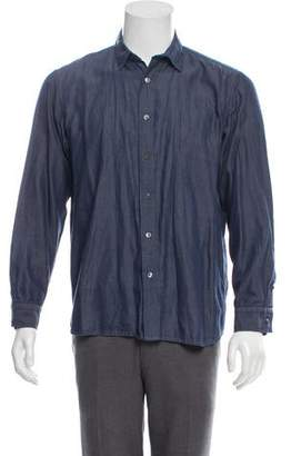 True to Cast Chambray Button-Up Shirt