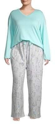 Hue Plus Three-Piece Cafe Time Pajama Set