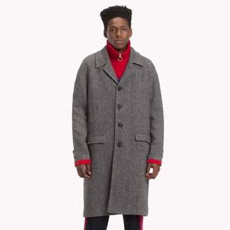 Tommy Hilfiger Herringbone Single-breasted Coat