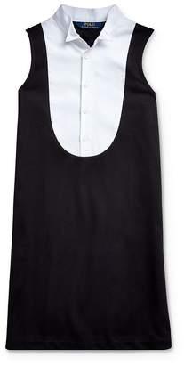 Ralph Lauren Girls' Ponte Tuxedo Dress - Big Kid