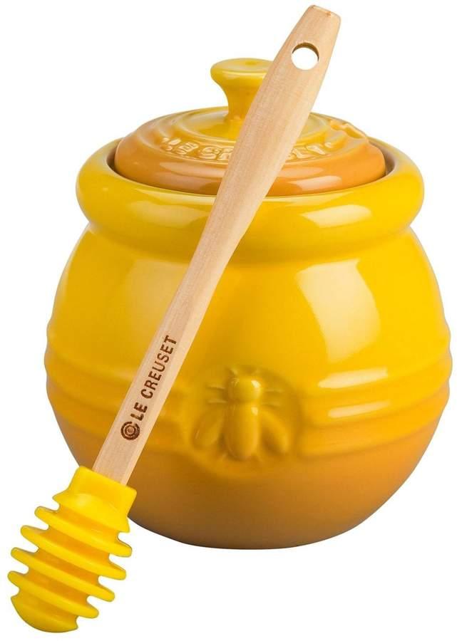Honey Pot with Silicon Honey Dipper - Dijon