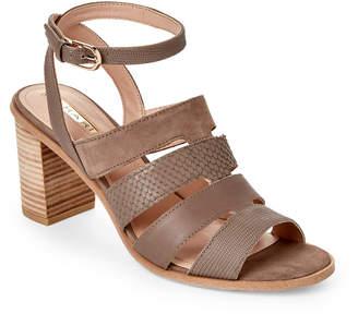 Tahari Taupe-Grey Fairhaven Block Heel Sandals