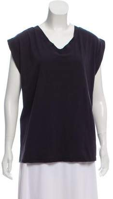 Marni V-Neck Short Sleeve Top