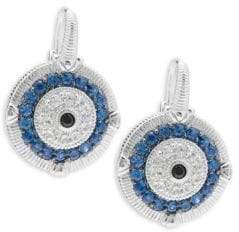 Judith Ripka Lucky Sapphire Evil Eye Earrings