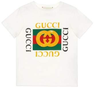 Gucci Children's cotton T-shirt with logo