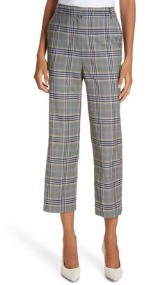 Tibi Lucas Suiting Taylor Mid-Rise Crop Trousers