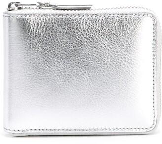 Comme des Garcons metallic zip wallet
