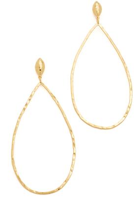 Gorjana Lola Drop Hoop Earrings $65 thestylecure.com