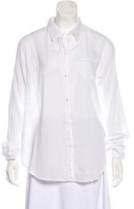 Nili Lotan Long-Sleeve Button-Up Blouse