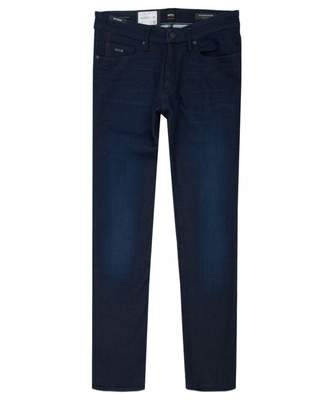 BOSS Charlston Knit Skinny Fit Jeans Colour: DARK BLUE, Size: 34L