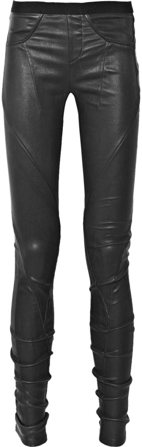 Helmut Lang Seamed leather leggings