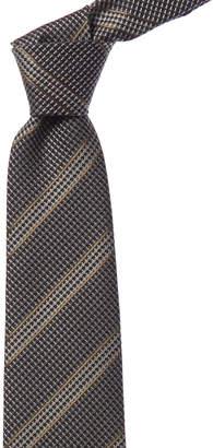 Tom Ford Grey Multicolor Stripe Silk & Wool-Blend Tie