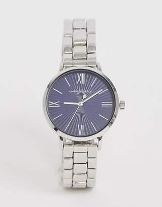 Design DESIGN skinny bracelet watch in silver tone