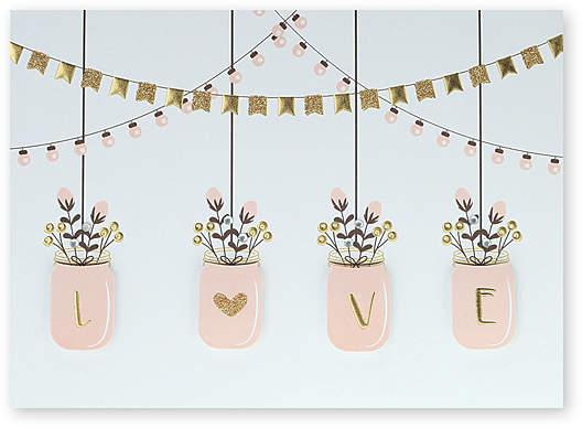 Mason Jar Wedding Card - Set of Six