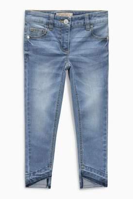 Next Girls Light Blue Asymmetric Hem Jeans (3-16yrs)