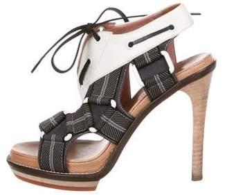 Derek Lam Caged Lace-Up Sandals
