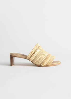 And other stories Straw Ruffle Strap Mules