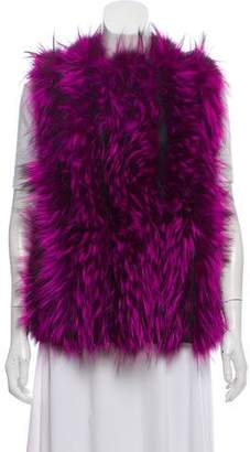 Fendi Leather-Trimmed Fur Vest w/ Tags