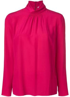 RED Valentino ruched collar blouse