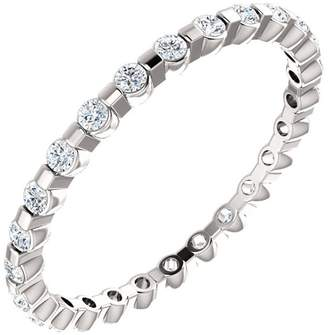 South Beach Diamonds 1.98 ct Ladies Round Cut Diamond Eternity Band in 14 kt White old In Size 9.5
