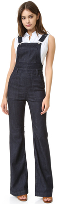 AG The Lolita High-Rise Overall Flare Jean $298 thestylecure.com