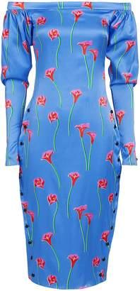 Caroline Constas Dania Calla Lily Midi Dress
