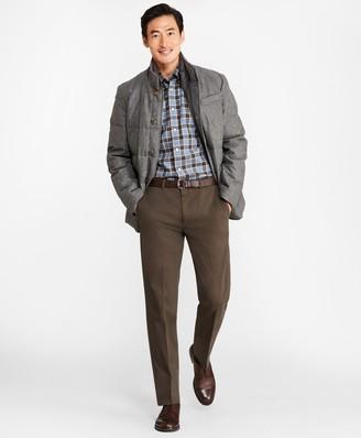 Brooks Brothers Mixed-Media Wool Hybrid Jacket