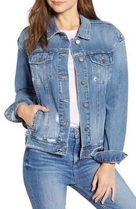 Paige Josephine Sequin Rose Denim Jacket