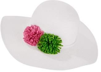 Time and Tru Fashion Floppy Hat, Double Pom