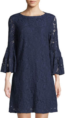 Laundry by Shelli Segal 3/4-Sleeve Lace Shift Dress