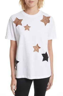Women's Red Valentino Stars Tee $350 thestylecure.com