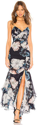 Nicholas Floral Drawstring Layered Dress