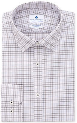 Ryan Seacrest Distinction Men's Ultimate Active Slim-Fit Non-Iron Performance Stretch Plaid Dress Shirt, Created for Macy's