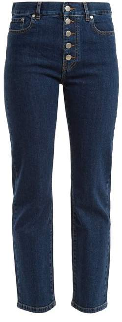 Den straight-leg cropped jeans