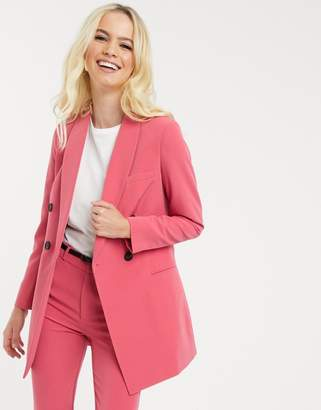 Stradivarius double breasted blazer/dress in pink
