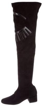 Chiara Ferragni Suede Over-The-Knee Boots