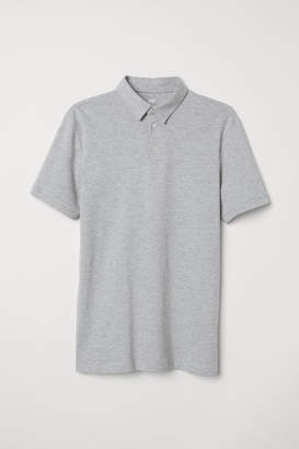 H&M Cotton Polo Shirt - Gray