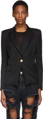 Pierre Balmain Black Classic Single-Button Blazer