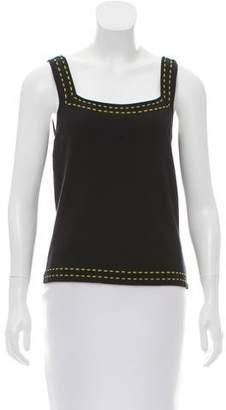 Tahari Arthur S. Levine Silk-Blend Knit Top