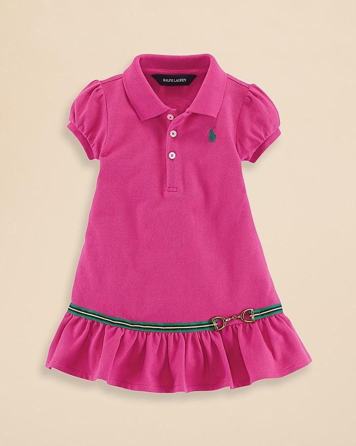Ralph Lauren Infant Girls' Polo Dress - Sizes 9-24 Months