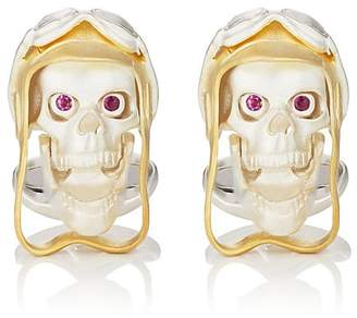 Deakin & Francis Men's Aviator Skull Cufflinks