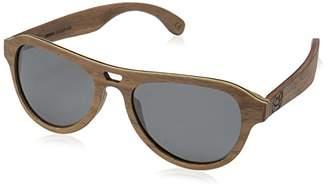 Earth Wood Clearwater Wood Sunglasses Polarized Aviator