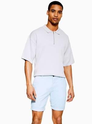 Topman Light Blue Stretch Skinny Chino Shorts