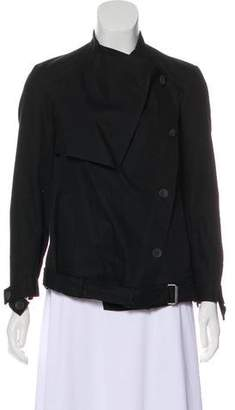 Helmut Lang Button-Up Cowl Neck Jacket