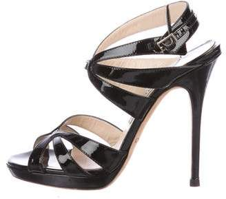 Jimmy Choo Patent Ankle-Strap Sandals